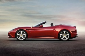 Ferrari California T without roof side view