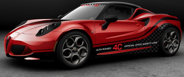 Alfa Romeo 4C was picked as WTCC Safety Car!