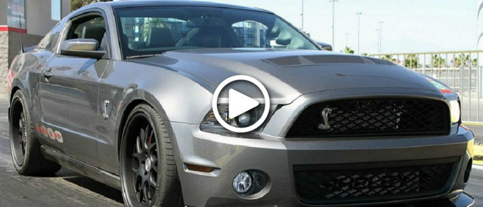 Shelby Mustang with 1000 hp, what To Do with It on an open road-VIDEO
