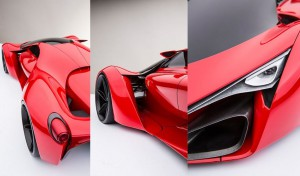 Ferrari F80 supercar concept 3 in 1