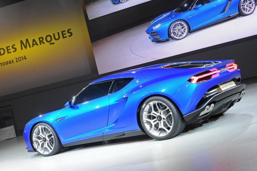 Lamborghini Asterion LPI 910-4 Hybrid Concept rear side view