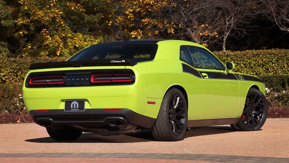 Old School Muscle Car Premiere Of The Dodge Challenger T