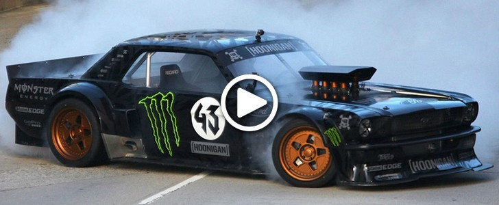crazy drive you must see ken block drive ford mustang 1965 for gymkhana 7 video wild in the. Black Bedroom Furniture Sets. Home Design Ideas