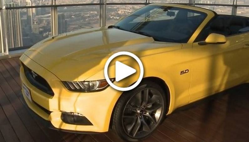 Ford Engineers Assembled Mustang GT Convertible On the Top of the Tallest Building in the World