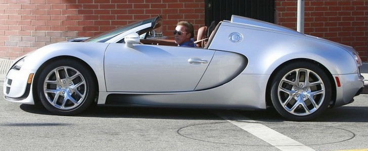 Arnold Schwarzenegger is Driving His Bugatti Veyron Grand Sport Vitesse around Town