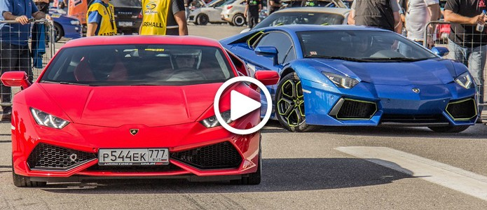 Lambo fans VIDEO: Is Aventador Faster than Huracan?
