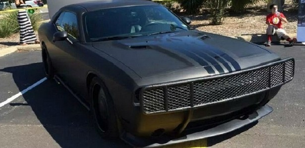 Tim Duncan Uses His Punisher –themed Dodge Challenger to Raise Money for Charity