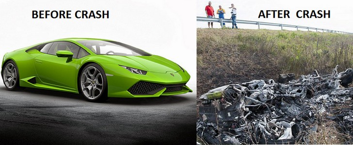 disturbing video lamborghini huracan crashed at 208mph on a hungarian road. Black Bedroom Furniture Sets. Home Design Ideas