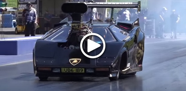 Lamborghini Countach BLOWN-V8 DRAG CAR Allures the Universe (VIDEO)