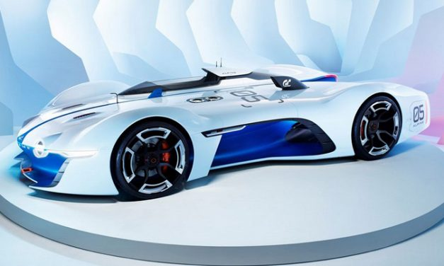 Sci-Fi Renault Alpine Vision Gran Turismo Will Appear in the Video Game Gran Turismo 6