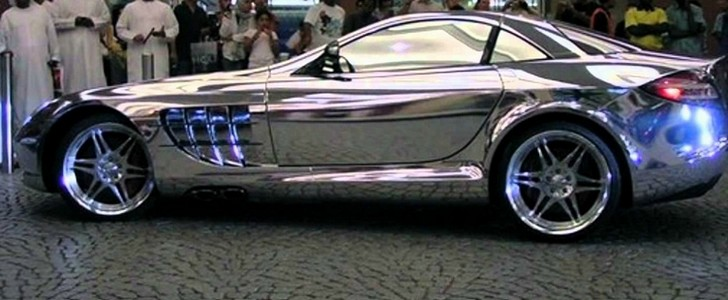 White gold Mercedes-Benz SLR McLaren-Only in UAEmirates!