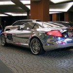 White gold Mercedes Benz SLR McLaren