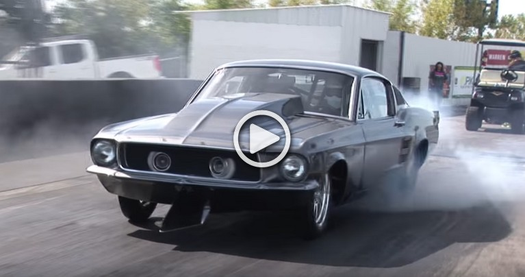 """'67 Ford Mustang Fastback """"Helleanor"""" Powered by a 2,500 hp Chevy V-8!"""