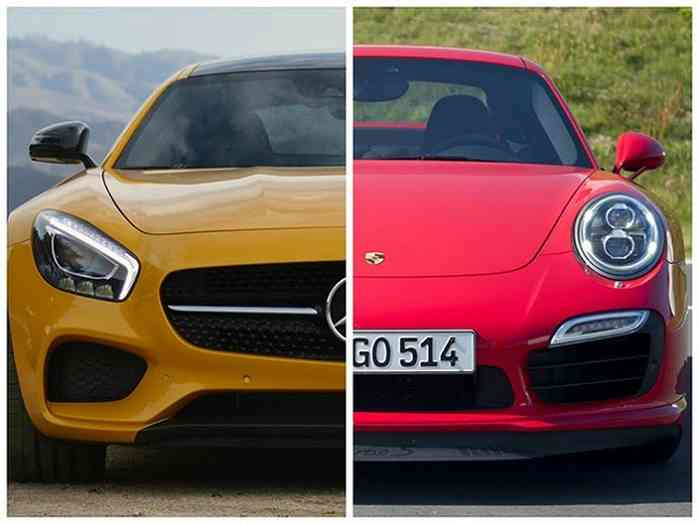 Mercedes AMG GT S against Porsche 911 Turbo
