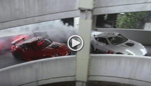 Chris Forsberg Drifts at the abandoned Shoping Mall with 1000hp Nissan 370Z
