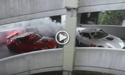 Chris Forsberg and Ryan Tuerck Drift In an Abandoned Shopping Mall with a 1000hp 370Z