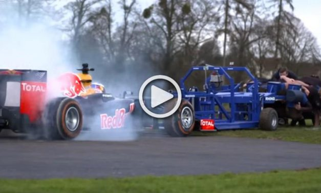 Red Bull F1 Racecar vs. Eight Strong Rugby Players…That's Insane!