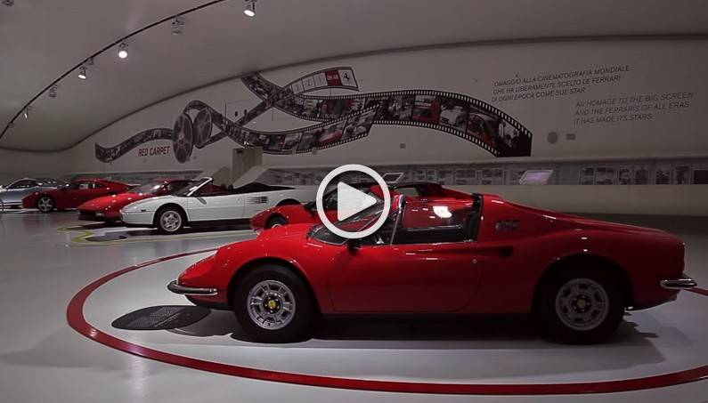 Hollywood Ferrari Cars Arrived at the Ferrari Enzo Museum in Modena