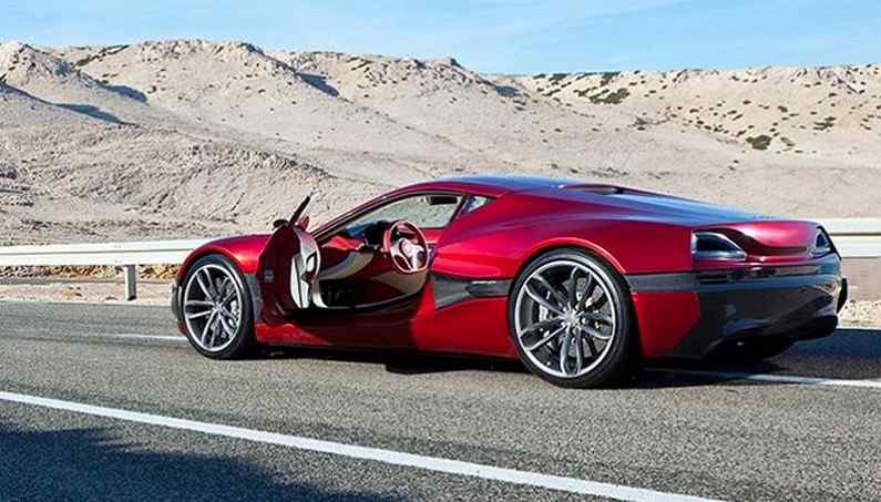 how rimac concept one electric supercar accelerate from 0 to 100 video super cars corner. Black Bedroom Furniture Sets. Home Design Ideas