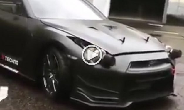 Hilarious: Nissan GT-R  Has Turbochargers Instead of Headlights