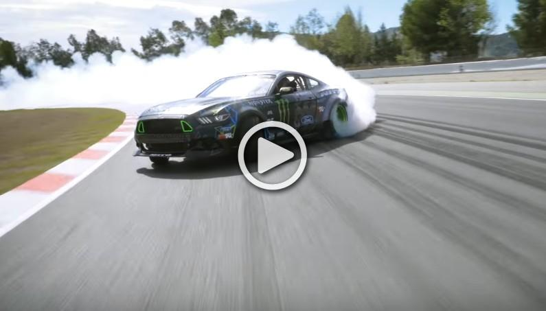 Watch Vaughn Gittin Jr.'s Insanely Long Drift with His Ford Mustang RTR