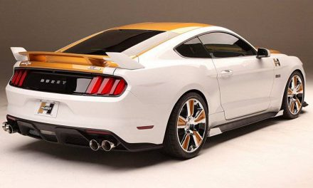 SEMA 2016: Hurst and Kenne Bell R-Code Gold and White Ford Mustang