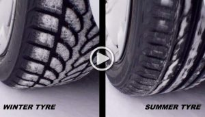 winter tire and summer tire-photo