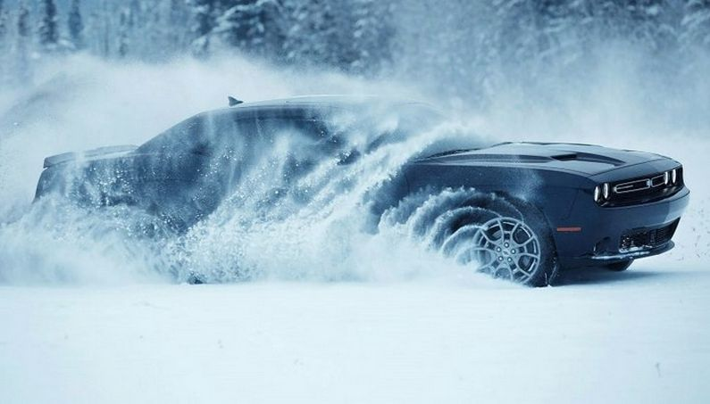 Traverse Snow-Covered Roads with the 2017 Dodge Challenger GT AWD!
