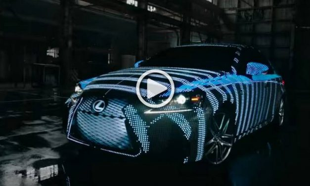 Led Covered Lexus LIT IS Changes Colors on Demand!