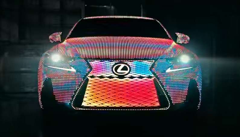 Led Covered Lexus LIT IS Changes Colors photo 2