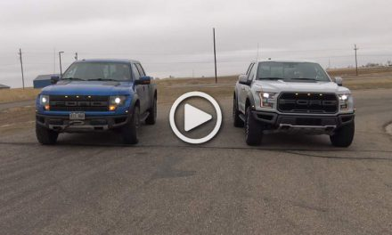 The 2017 F-150 Raptor Smokes the Old One In a Drag Race