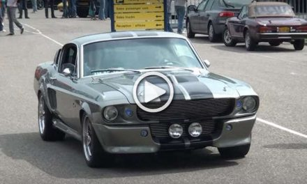 Ford Mustang Shelby GT500 ELEANOR Is Leaving a Car Show Like a Boss