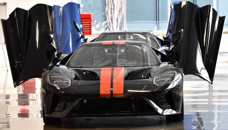 Ford Gt Production Front Doors Open