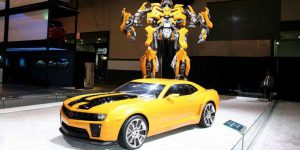 Bumblebee Transformers and Chevrolet Camaro