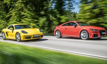 Two Arch Rivals: Porsche 718 Cayman S and Audi TT RS