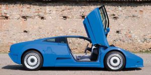 1994 Bugatti EB110GT side view-Supercar to Auction