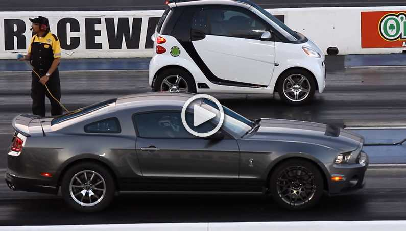 """Outstanding """"BLOWN"""" Smart Car Outruns Ford Mustang"""