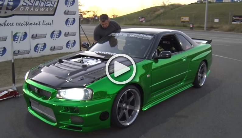 ERUBISU – R35 Powered Nissan R34 GT-R