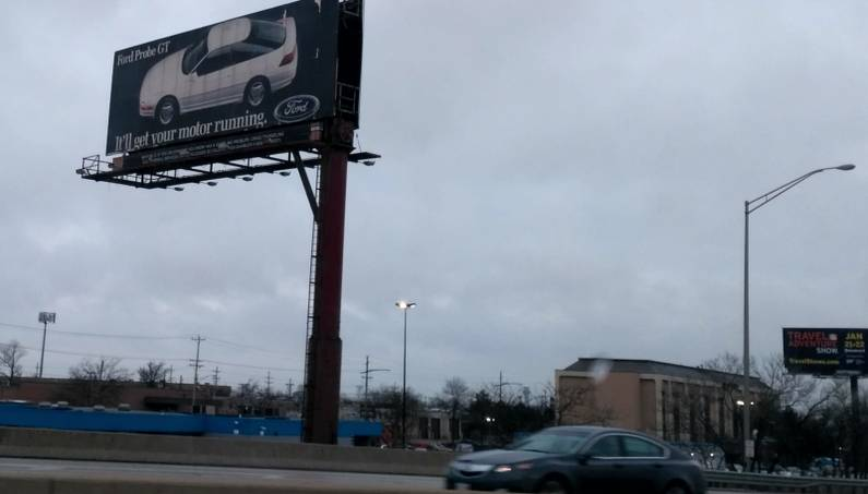 There's Ford Probe GT Billboard Off A Chicago Interstate