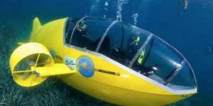 The Scubster pedal-powered submarine