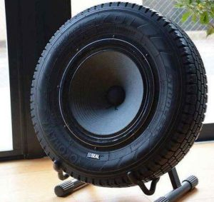 Tire Speaker-made-from-car-tyres